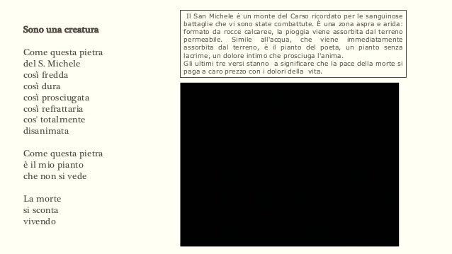 Giuseppe Ungaretti sono una creatura testo
