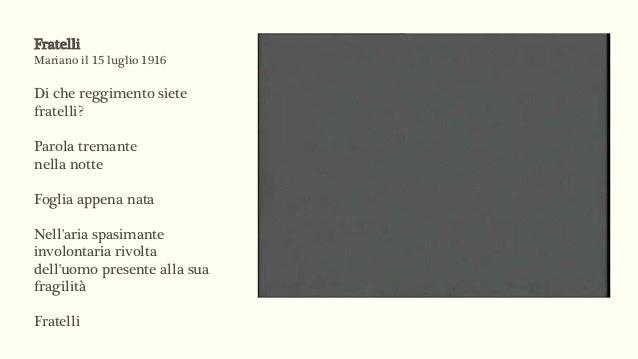 Giuseppe Ungaretti fratelli testo