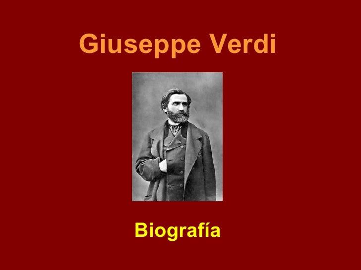 Giuseppe Verdi Biografía
