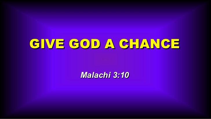 Give god-chance