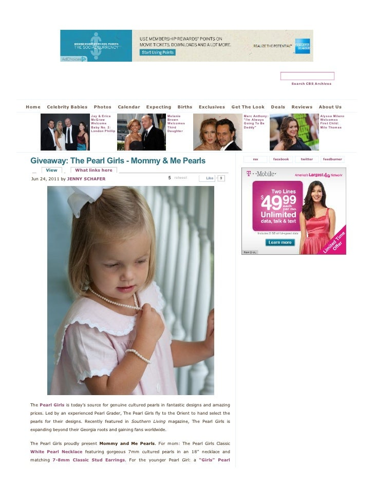 The Pearl Girls  - Mommy & me pearls | celebrity baby scoop