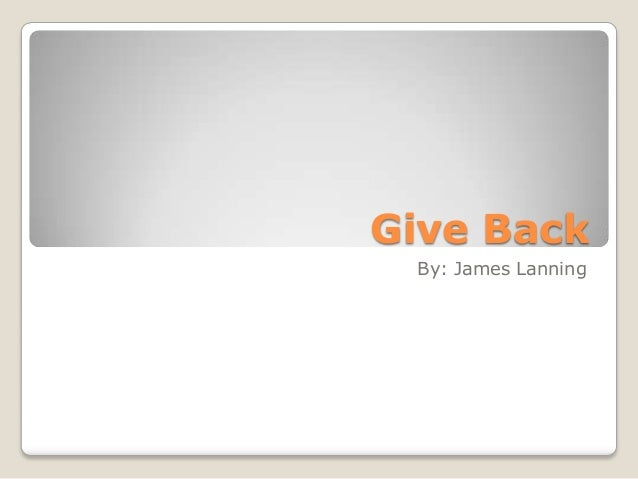 """Ch. 18 """"Give back"""""""