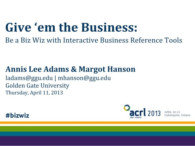 Give 'em the business: Be a biz wiz with interactive business reference tools
