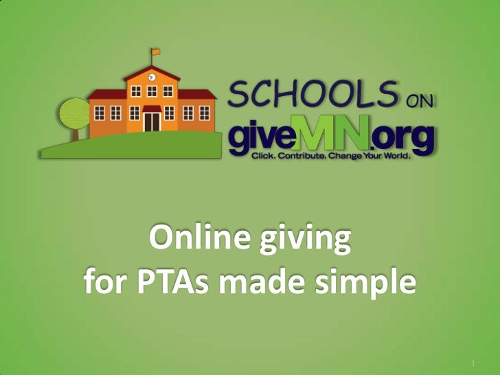 Online givingfor PTAs made simple                       1