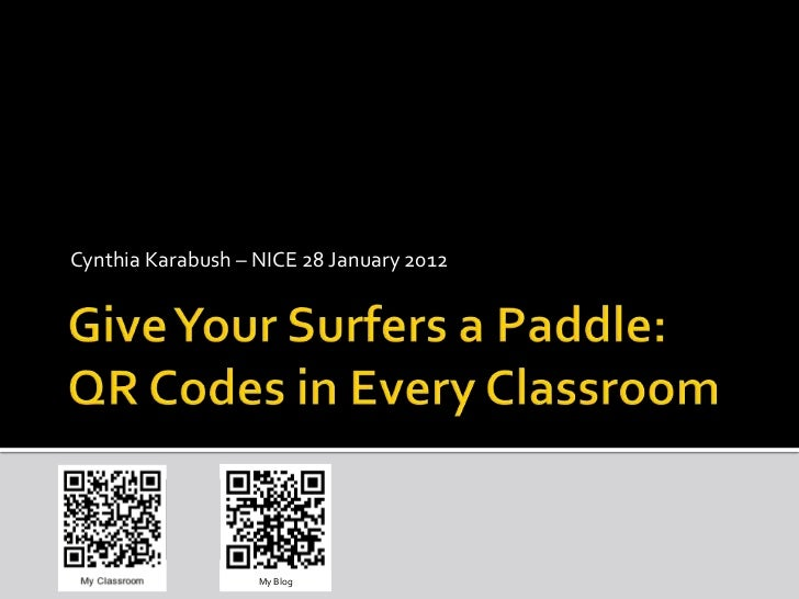 Give your surfers a paddle - ICE2012