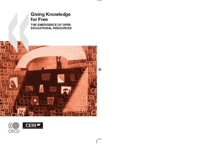 Giving knowledge for free   the emergence of open educational resources