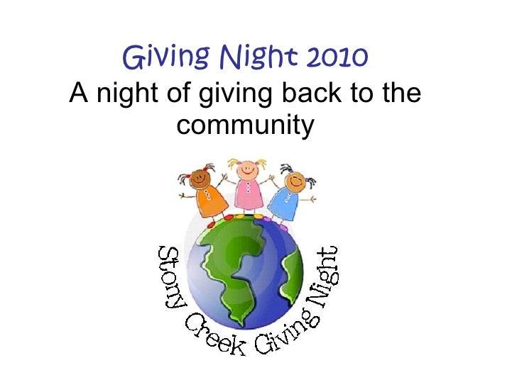 Stony Creek PTO Giving Night