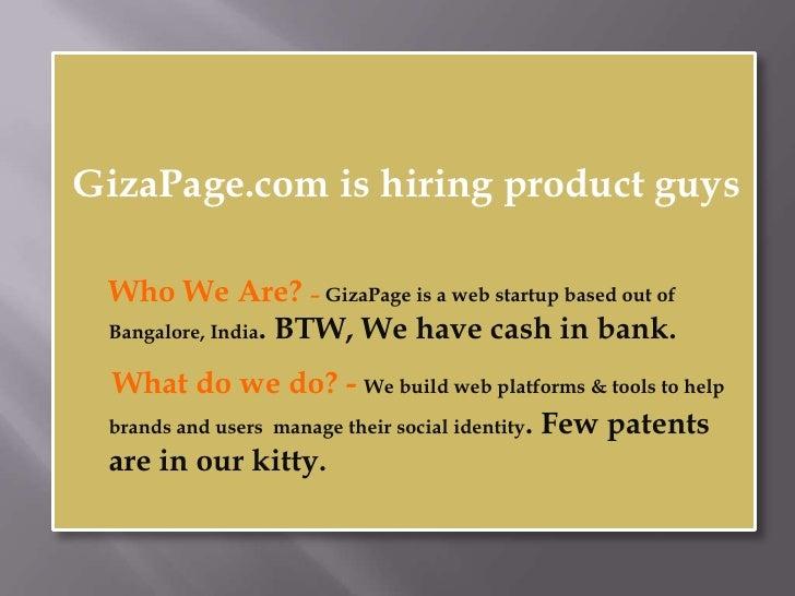 Giza Page Hiring