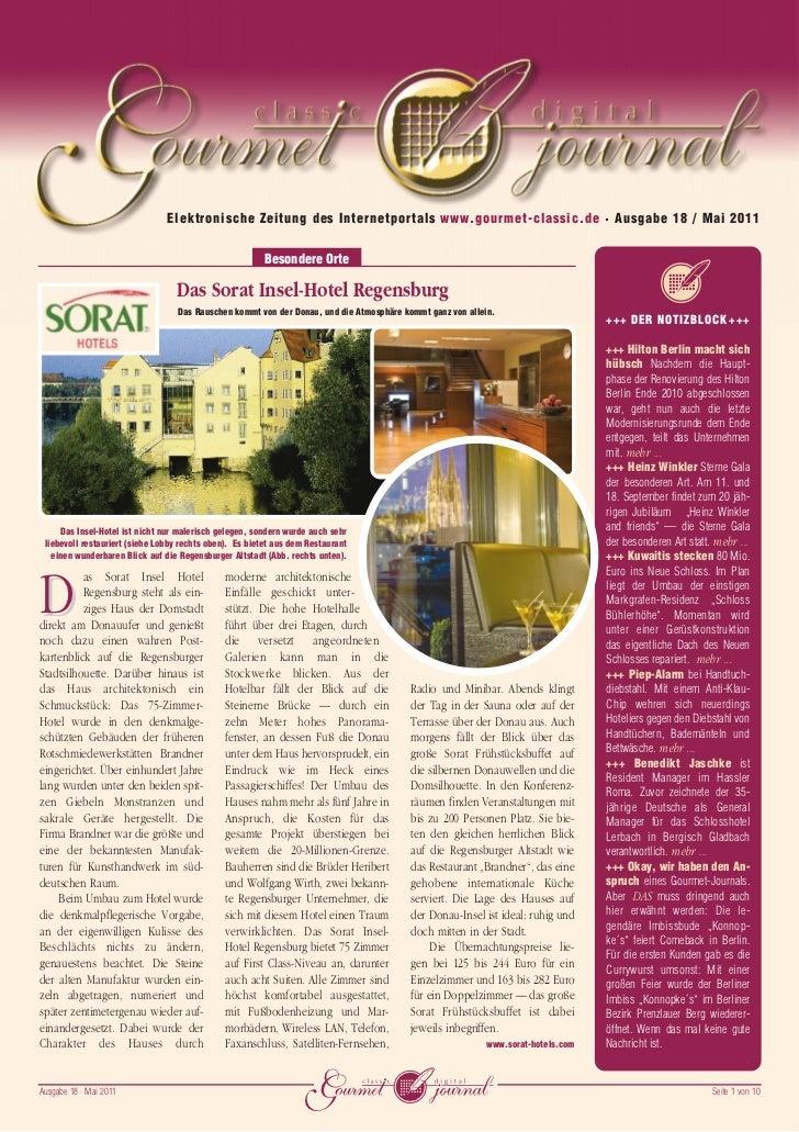 Elektronische Zeitung des Internetportals www.gourmet-classic.de • Ausgabe 18 / Mai 2011                                  ...