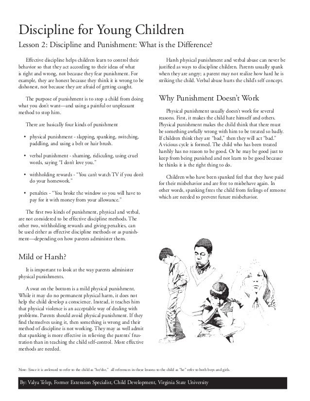 children and discipline essay Punishment and discipline in children summary: punishment and discipline differ in a couple of ways first of all punishment is something parents impose on children rather than discipline which is something that is usually known by the child.
