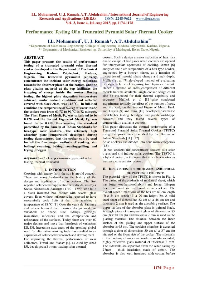 I.L. Mohammed, U. J. Rumah, A.T. Abdulrahim / International Journal of Engineering Research and Applications (IJERA) ISSN:...