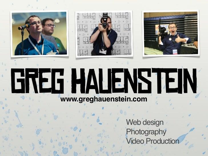 Greg Haunstein's Portfolio
