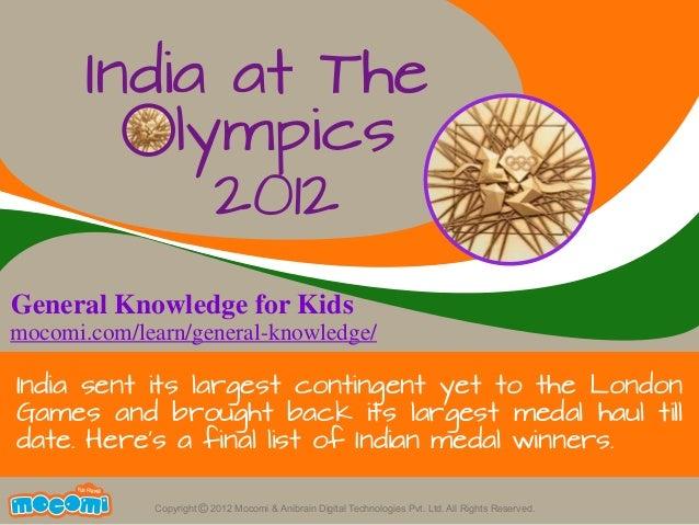 India at The Olympics 2012 – Mocomi.com