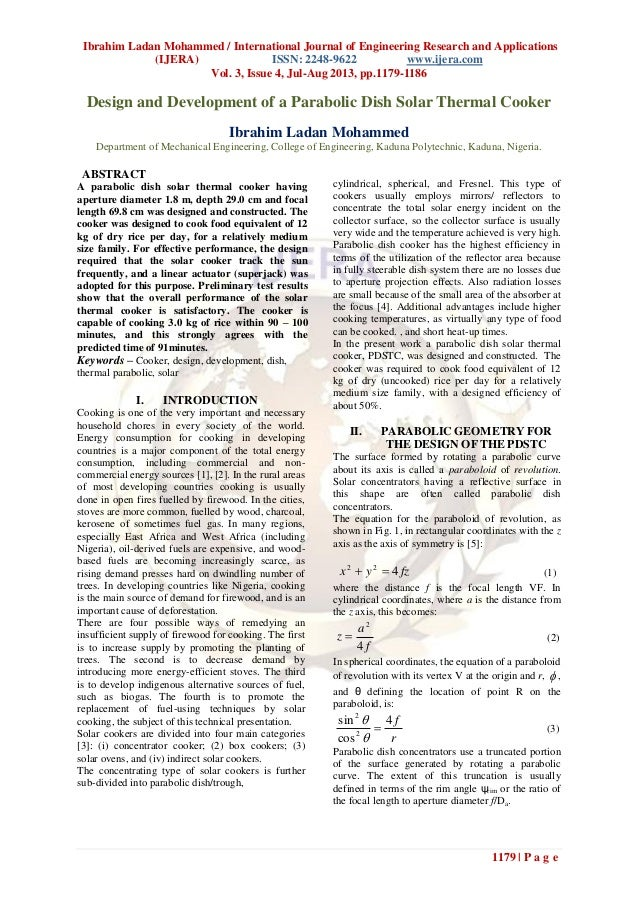 Ibrahim Ladan Mohammed / International Journal of Engineering Research and Applications (IJERA) ISSN: 2248-9622 www.ijera....
