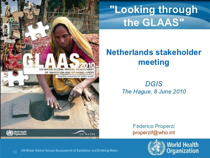 """""""Looking through the GLAAS"""" Netherlands stakeholder meeting DGIS The Hague, 8 June 2010 Federico Properzi [email..."""
