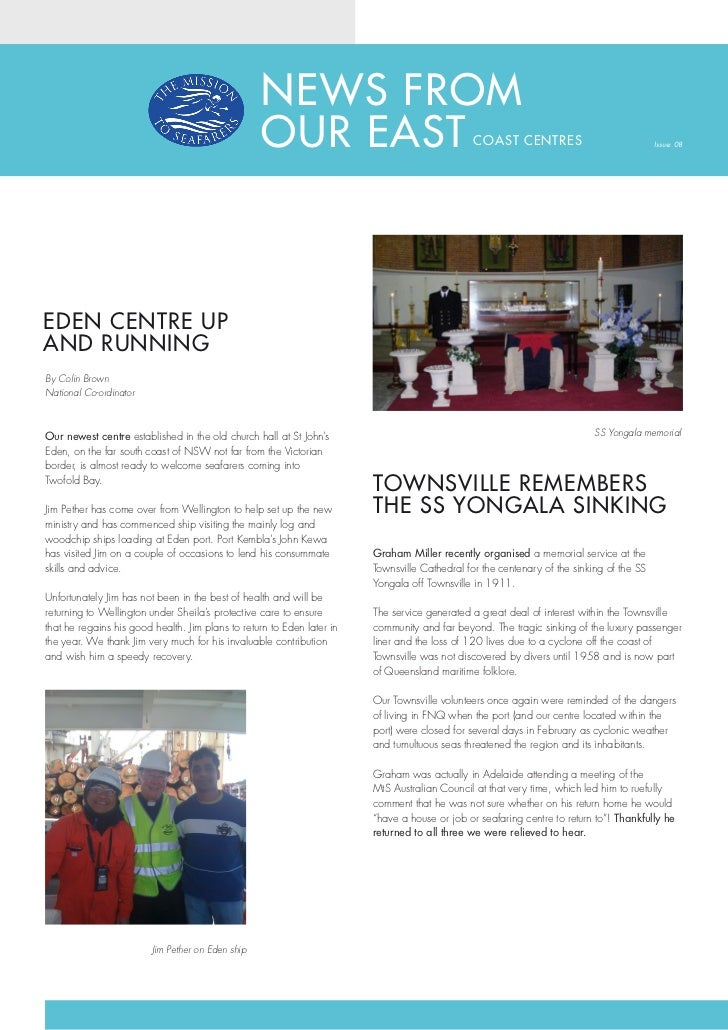 NEWS FROM                                                   OUR EAST                                    COAST CENTRES     ...