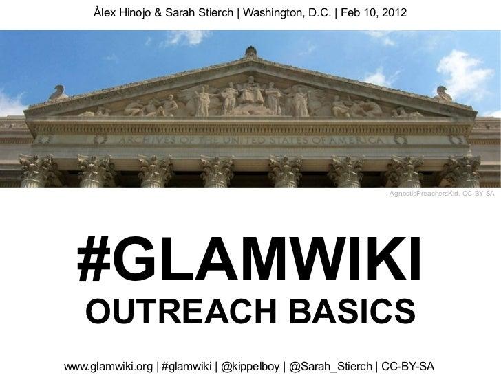 Glamcamp dc glamwiki outreach basics