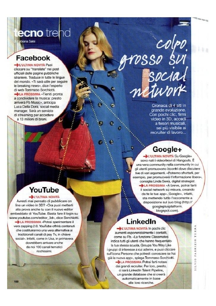 """Intervista Glamour Febbraio 2012 """"Techno Trend - Colpo grosso sui Social Network"""""""