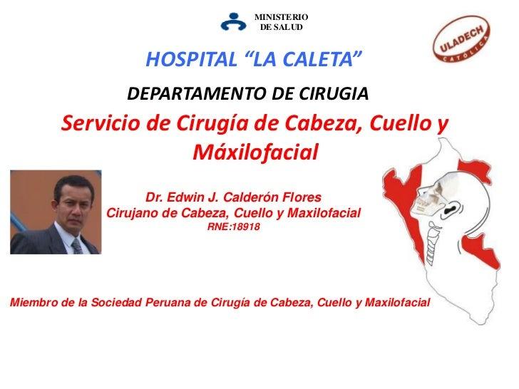 """MINISTERIO DESALUD<br />HOSPITAL """"LA CALETA""""<br />DEPARTAMENTO DE CIRUGIA<br />Servicio de Cirugía de Cabeza, Cuello y Máx..."""