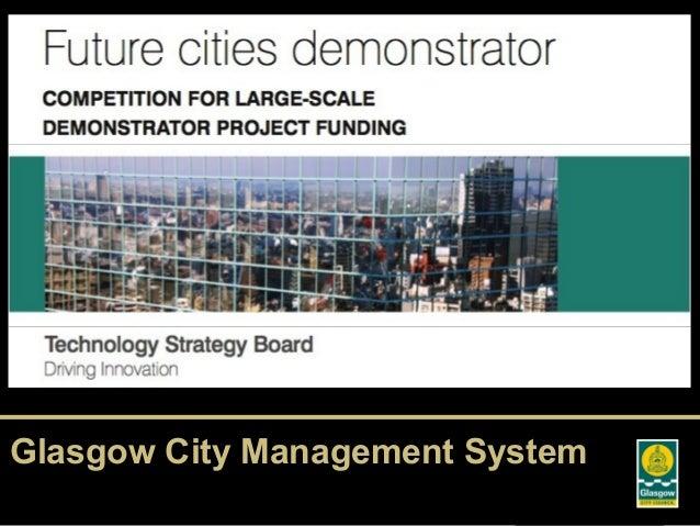 Glasgow TSB Future Cities Demonstrator Proposal
