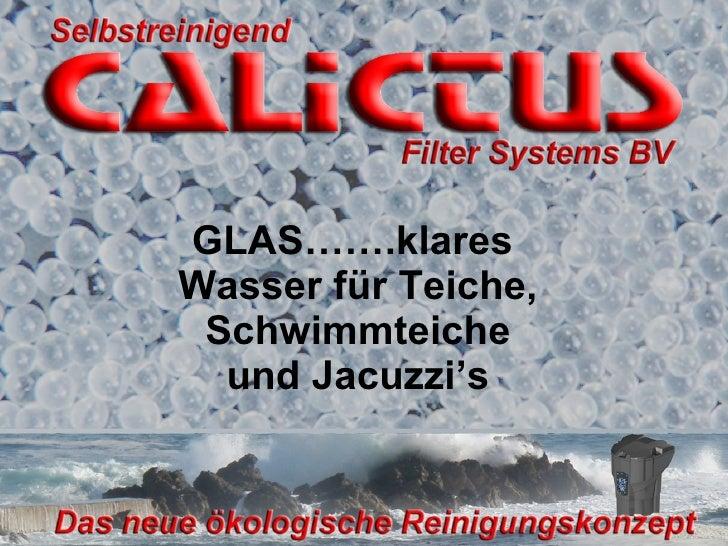 GLAS…….klares  Wasser für Teiche, Schwimmteiche und Jacuzzi's