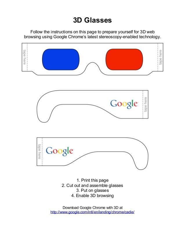 Видео как сделать триде очки