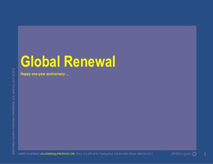 James Glassman - Global Renewal Presentation