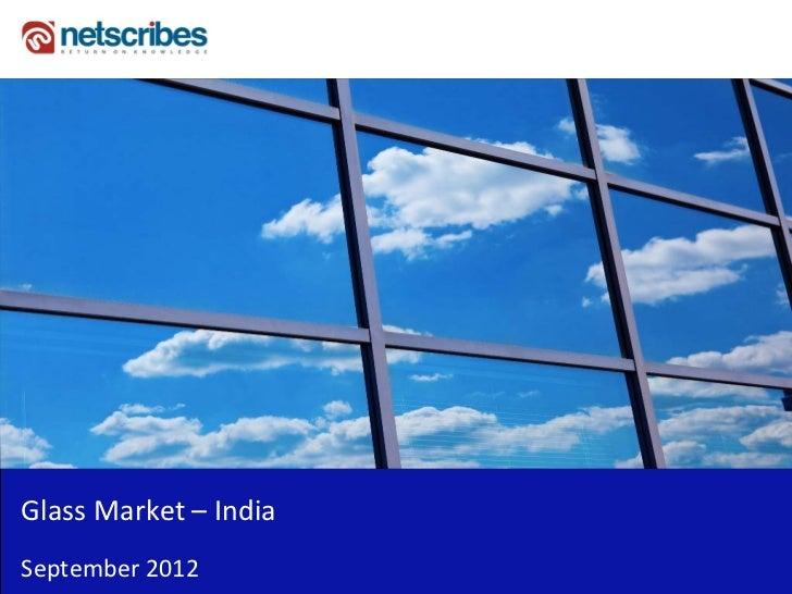 Insert Cover Image using Slide Master View                                Do not distortGlassMarket– IndiaSeptember2012