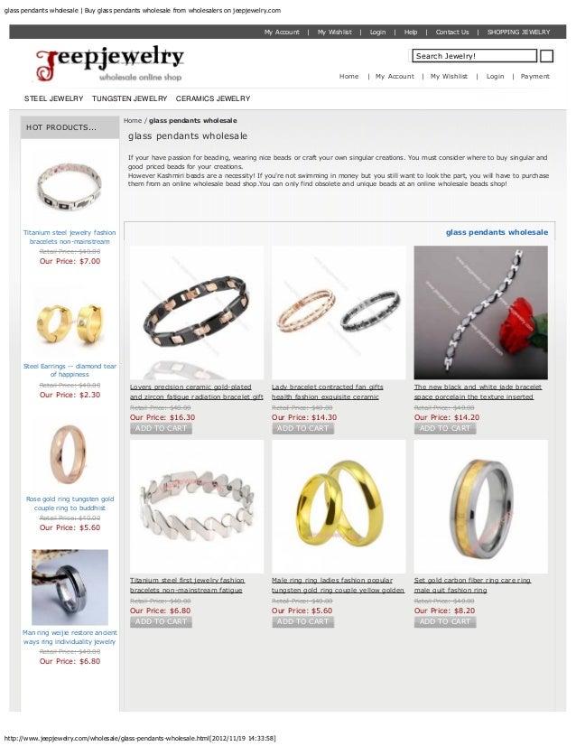 Glass pendants wholesale