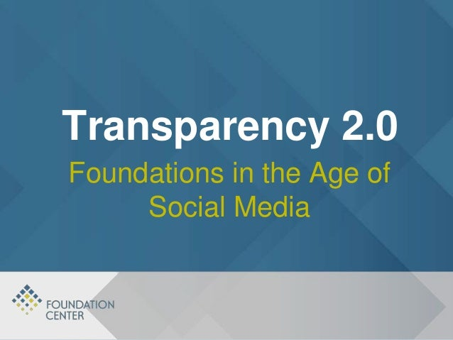 Foundations In the Age of Social Media