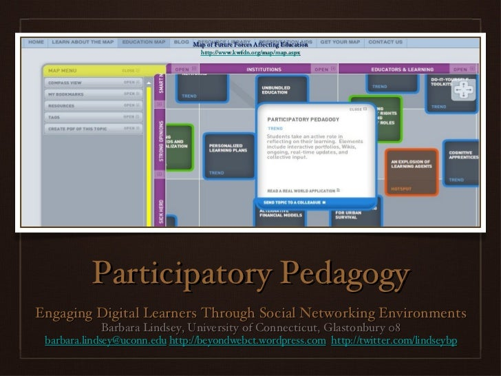 Participatory Pedagogy <ul><li>Engaging Digital Learners Through Social Networking Environments </li></ul><ul><li>Barbara ...