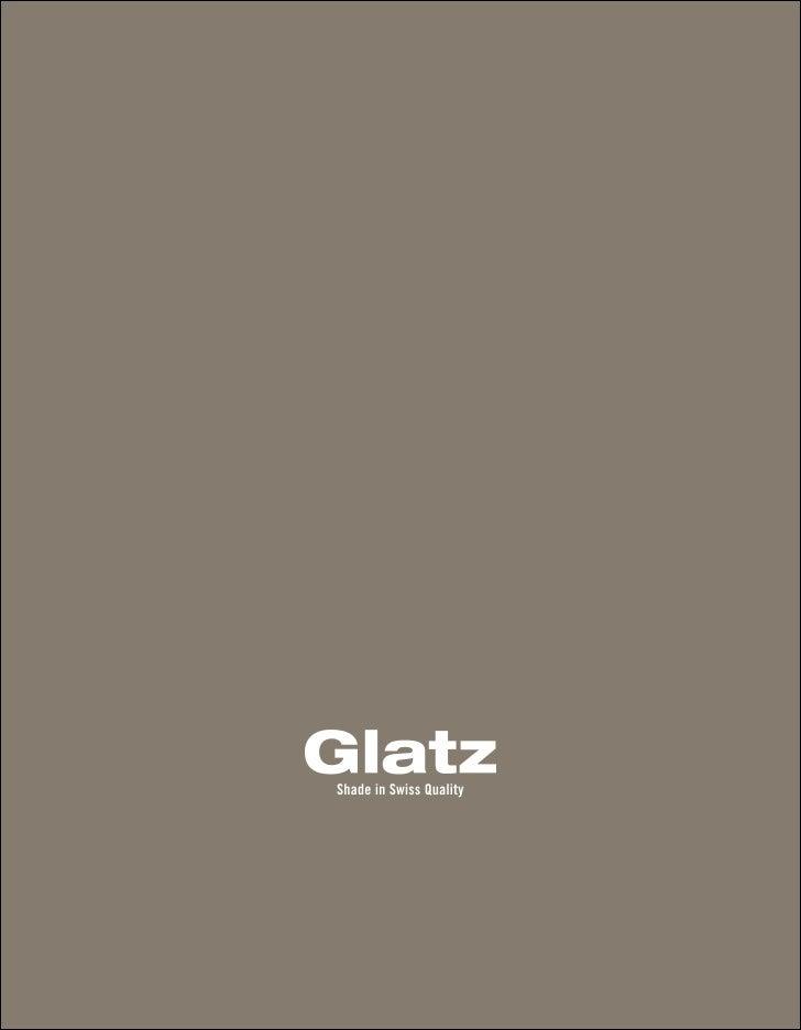 Glatz Sonnenschirme Imagekatalog 2011