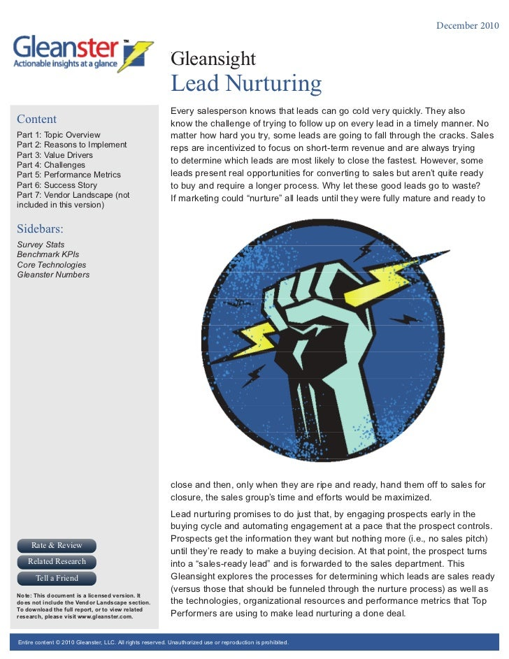 Gleansight   lead nurturing - q42010 - licensed