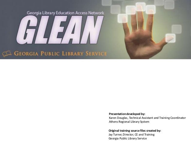 Getting Started With GLEAN