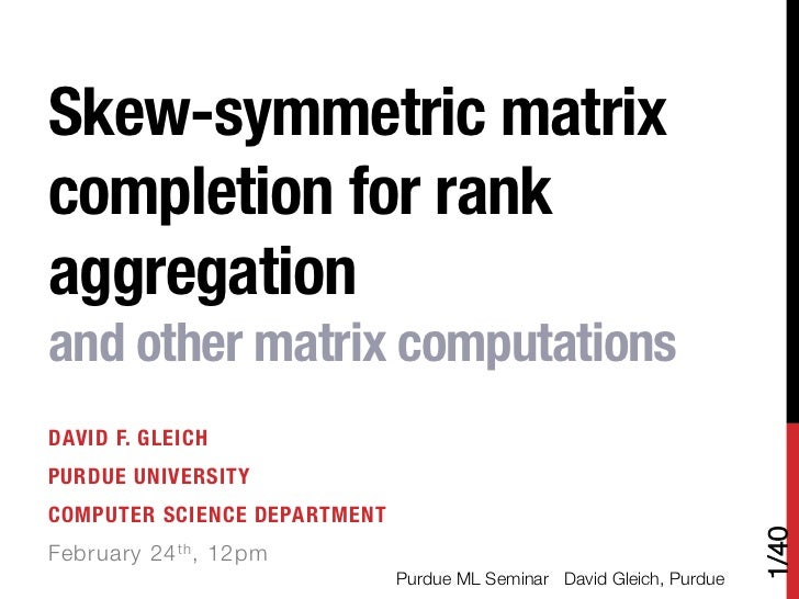 Skew-symmetric matrix completion for rank aggregation