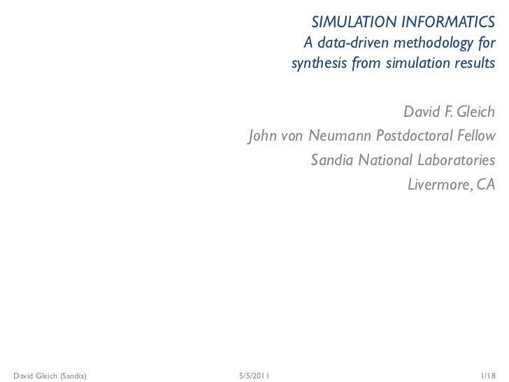 Simulation Informatics