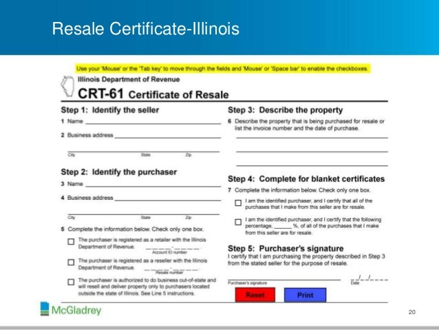 Illinois Sales Tax Exemption Certificate Bing Images