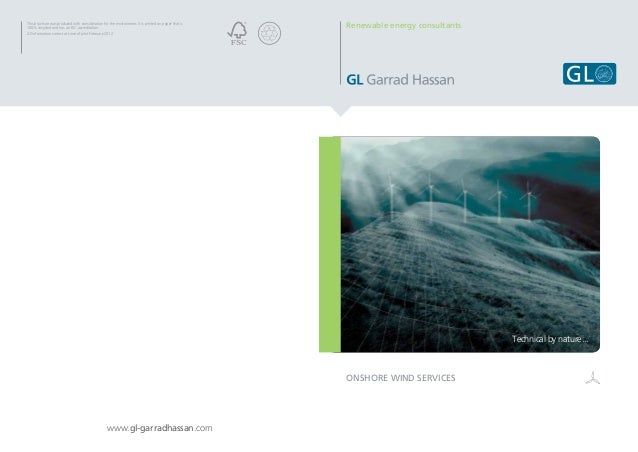 GL Garrad  Hassan Onshore Wind Services 2012