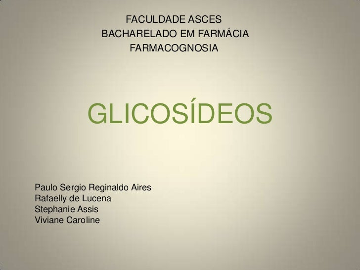 Glicosídeos final