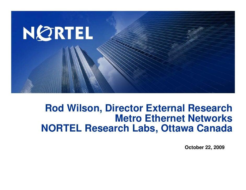 Nortel Presentation at GLIF
