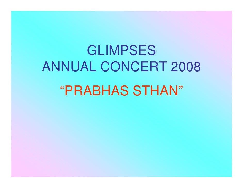Glimpses2008 Blog