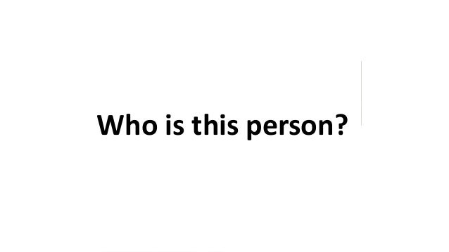 Who is this person?