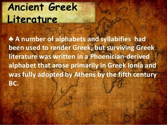 essay on ancient literature greek history essay Free essay on similarities and differences between ancient greece and rome available totally free at echeatcom, the largest free essay community.