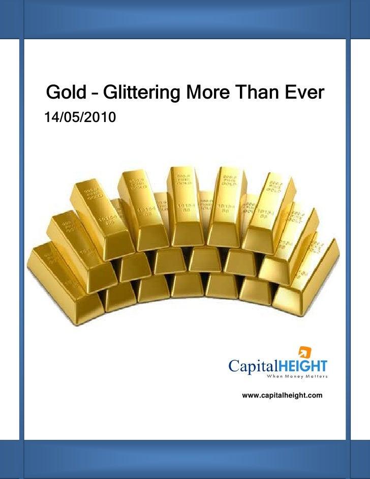 Glitering gold