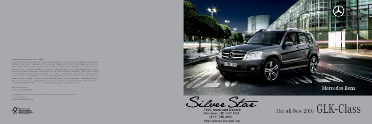 7800, boulevard Decarie Montreal, QC H4P 2H4     (514) 735-3581                             The All-New 2010   GLK- Class ...