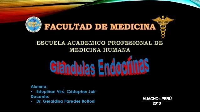Alumno: • Estupiñan Virú, Cristopher Jair Docente: • Dr. Geraldina Paredes Bottoni