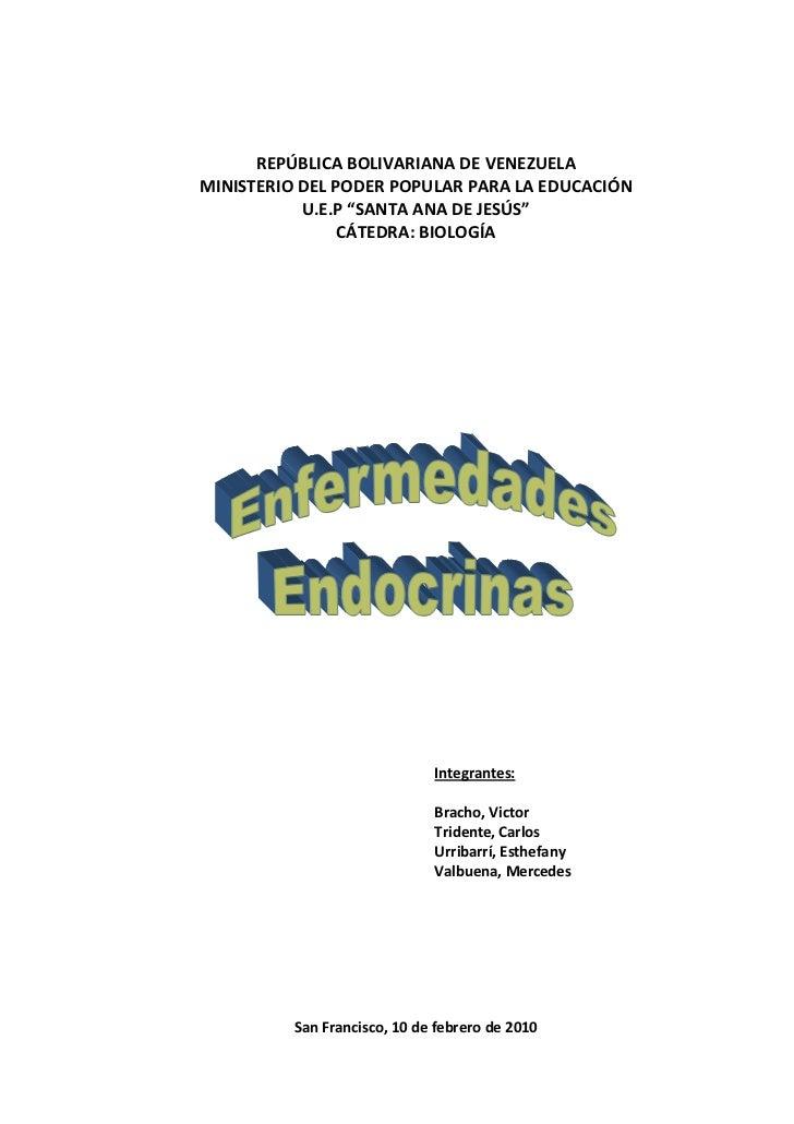 """REPÚBLICA BOLIVARIANA DE VENEZUELA <br />MINISTERIO DEL PODER POPULAR PARA LA EDUCACIÓN<br />U.E.P """"SANTA ANA DE JESÚS""""<br..."""