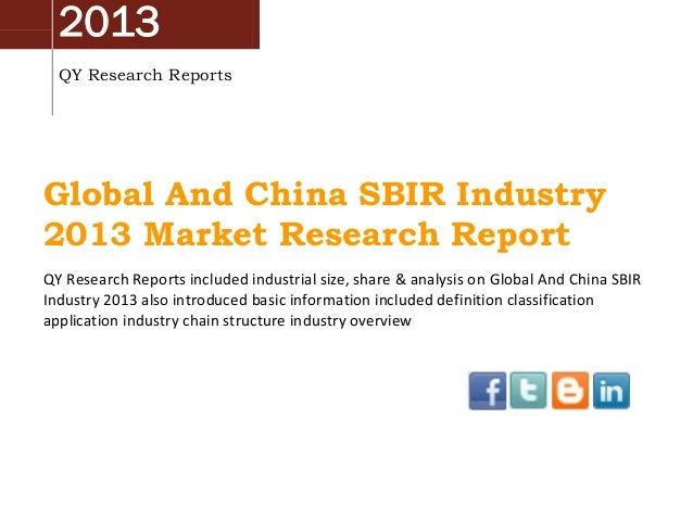 Global and-china-sbir-industry-2013-market-research-report