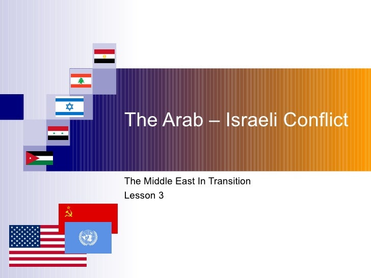 The Arab – Israeli Conflict The Middle East In Transition Lesson 3