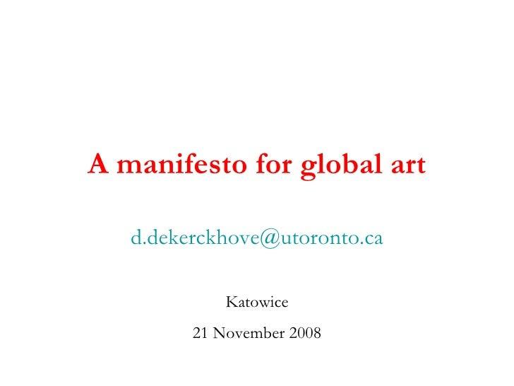Global Art Manifesto